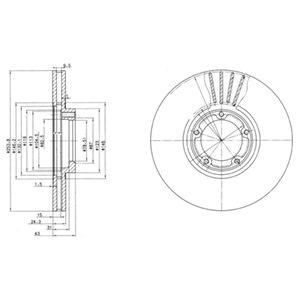 Reservdel:Ford Transit Bromsskiva, Fram, Framaxel