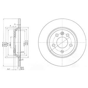 Reservdel:Ford Galaxy Bromsskiva, Bakaxel