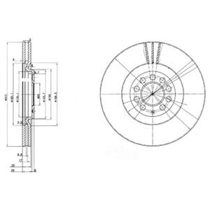 Reservdel:Volkswagen Beetle Bromsskiva, Fram, Framaxel