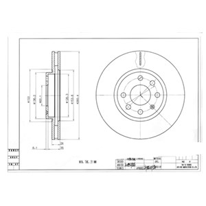 Reservdel:Opel Combo Bromsskiva, Fram, Framaxel