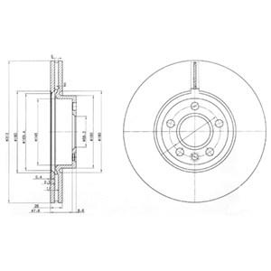 Reservdel:Ford Galaxy Bromsskiva, Fram, Framaxel