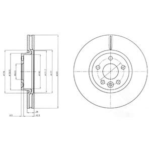 Reservdel:Ford Galaxy Bromsskiva, Framaxel