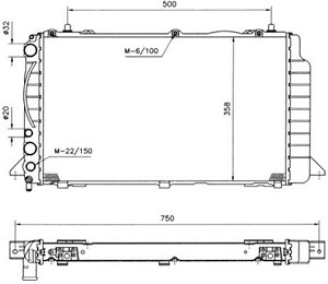 Reservdel:Audi 80 Kylare, motorkylning