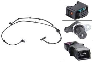 ABS-givare, Sensor, hjulvarvtal, Bak, Bakaxel, Vänster