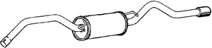 Reservdel:Mercedes A 200 Bakre ljuddämpare, Bak
