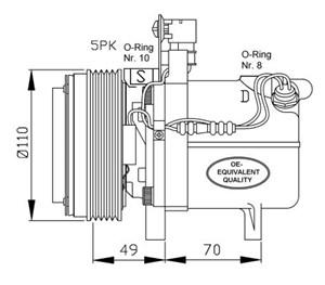 Reservdel:Bmw Z3 Kompressor, klimatanläggning
