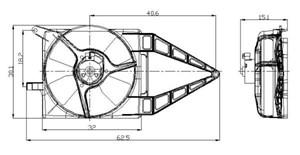 Reservdel:Opel Combo Elmotor, kylarfläkt