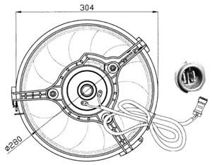 Reservdel:Ford Galaxy Fläkt, kylare