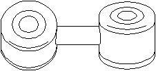 Tanko, kallistuksenvaimennin, Taka-akseli, vasen