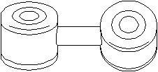 Stång/stag, krängningshämmare, Bak, höger