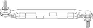 Stång/stag, krängningshämmare, Framaxel, Fram, höger eller vänster, Höger fram, Vänster fram, Höger, Vänster