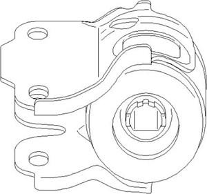 Reservdel:Ford Galaxy Hållare, länkarmsinfästning, Bak, Inre, Höger fram