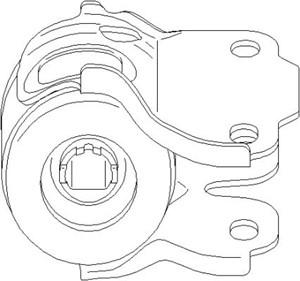 Reservdel:Ford Galaxy Hållare, länkarmsinfästning, Bak, Inre, Vänster fram