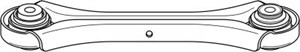 Bærearm, hjulophæng, Ydre, Bagaksel oppe, Bagaksel, højre eller venstre, Højre eller venstre, Midten, Oppe