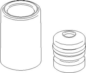 Reservdel:Bmw 520 Genomslagsgummi, stötdämpare, Bak, höger eller vänster