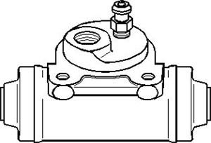 Hjulcylinder, Bak, Bakaxel, Bak, vänster