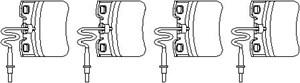 Reservdel:Citroen Ax 11 Bromsbeläggsats, Fram