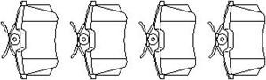 Reservdel:Citroen C3 Bromsbeläggsats, Bak