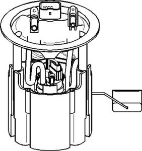 Bränslepump, I bränslebehållaren