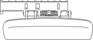 Reservdel:Citroen Xsara Dörrhandtag, Höger fram