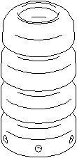 Reservdel:Citroen C4 Genomslagsgummi, stötdämpare, Fram, höger eller vänster