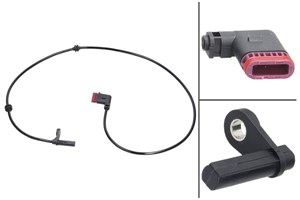 ABS-givare, Sensor, hjulvarvtal, Bakaxel, Bak, höger eller vänster, Höger, Vänster