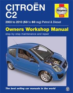 Haynes-korjauskäsikirja, englanniksi, Citroën C2