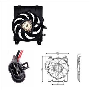 Ventilator, motorkjøling, Foran kjøleren