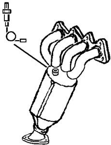 Reservdel:Opel Zafira Katalysator, Fram