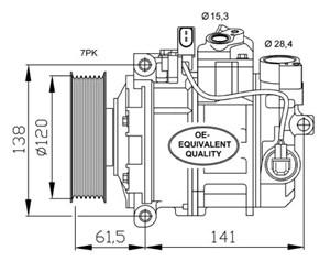 Reservdel:Audi A8 Kompressor, klimatanläggning