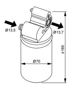 Reservdel:Volvo Xc60 Torkfilter