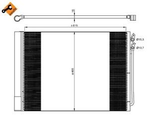 Reservdel:Bmw 520 Kondensor, klimatanläggning