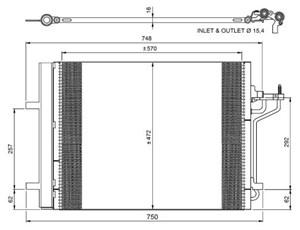 Reservdel:Ford C-max Kondensor, klimatanläggning