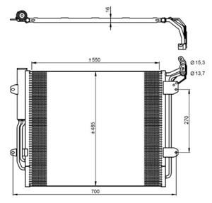 Reservdel:Seat Alhambra Kondensor, klimatanläggning