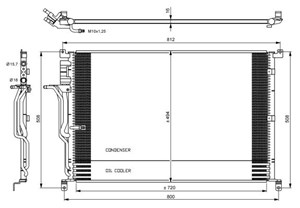 Reservdel:Audi A8 Kondensor, klimatanläggning