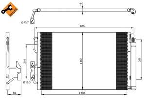 Reservdel:Bmw 120 Kondensor, klimatanläggning