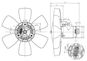 Ventilator, motorkjøling, Venstre