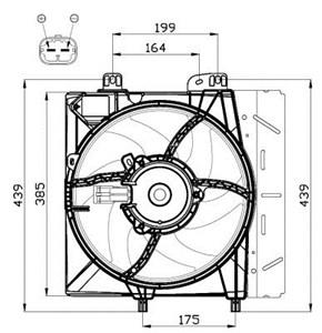 Reservdel:Citroen C3 Fläkt, kylare