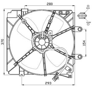 Reservdel:Mazda 626 Fläkt, kylare