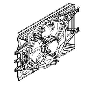 Reservdel:Fiat 500 Fläkt, kylare