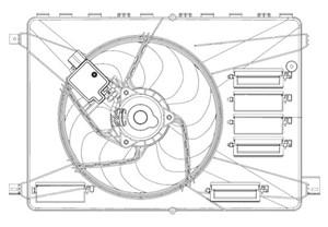 Reservdel:Ford Mondeo Fläkt, kylare
