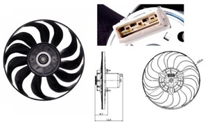 Ventilator, motorkøling, Højre