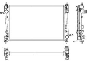 Reservdel:Fiat Punto Kylare, motorkylning