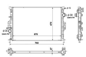 Reservdel:Ford Mondeo Kylare, motorkylning