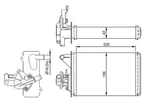 Reservdel:Fiat Uno Värmeväxlare, kupévärme