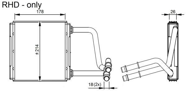 heat exchanger  interior heating - mercedes-benz