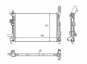 Reservdel:Ford C-max Kylare, motorkylning