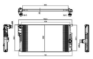 Reservdel:Bmw 120 Kylare, motorkylning