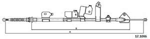 Vajer, parkeringsbroms, Bak, Vänster bak, Vänster