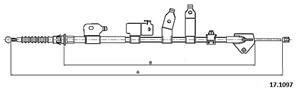 Kabel, parkeringsbremse, Bak, Høyre bak, Høyre, Venstre